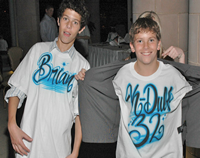 Airbrush T-shirts, Hats for parties and events in Dallas Fort Worth TX