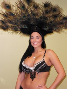 Showgirl for Casino Party in Dallas TX