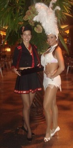 showgirls and cigar girls for hire at casino night