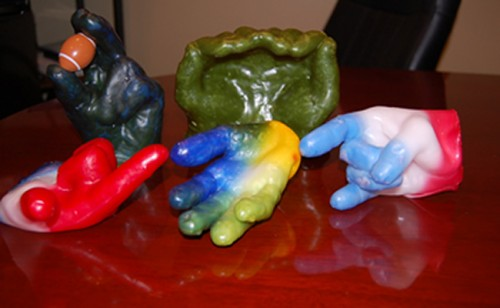 how to make a wax mold of your hand